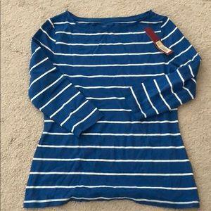 NWT Merona Stripes 3/4 Sleeve Shirt